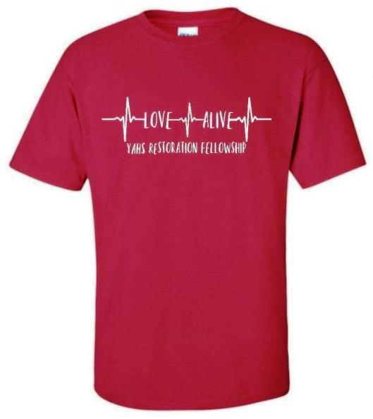 Love Alive t-shirt (front)