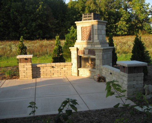 Built-in Outdoor Fireplace Whitefish Bay, WI