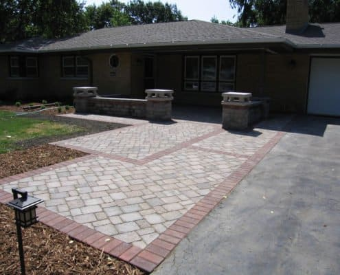 decorative front walkway