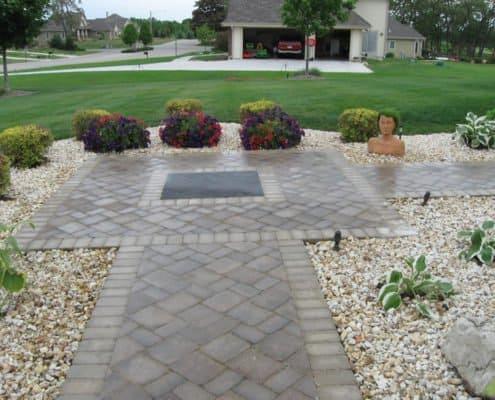 front paver sidewalk