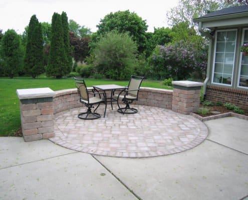 custom circular patio