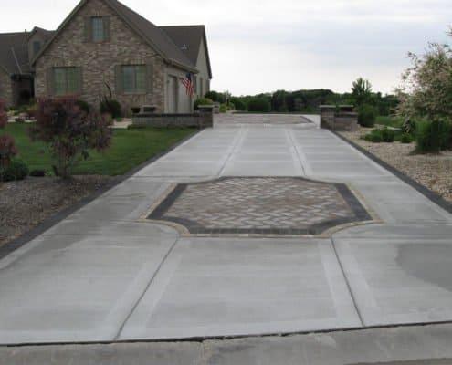 concrete driveway paver insert