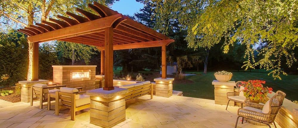 Night Patio With LED Lights