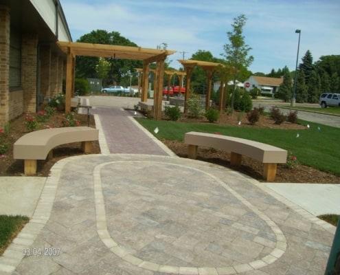 Custom Paver Walkway and Patio