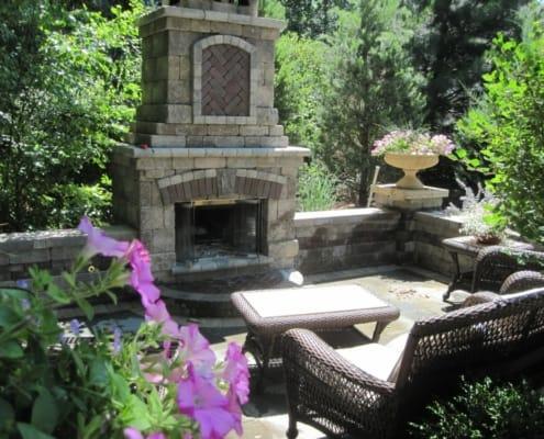 Custom Designed Outdoor Fireplace