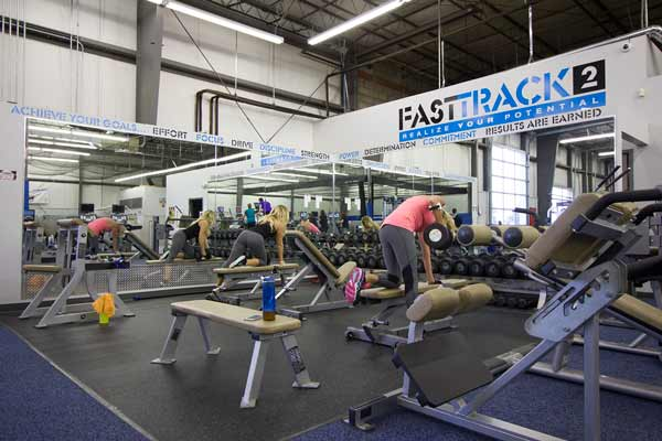 The inside of FastTrack2, Lewis Center personal training gym