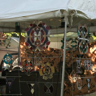 Original Stained Glass window hangings