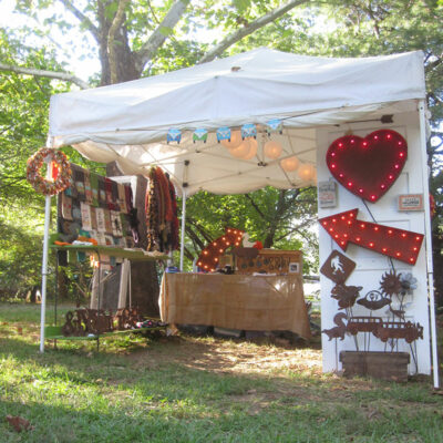 Alex and Kelly are back with a whimsical array of handmade fiber art and metal.