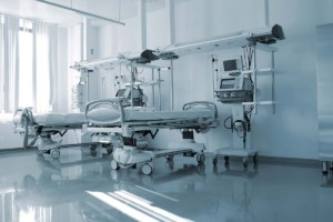 Empty Beds Inside Patient Ward Faciltiy