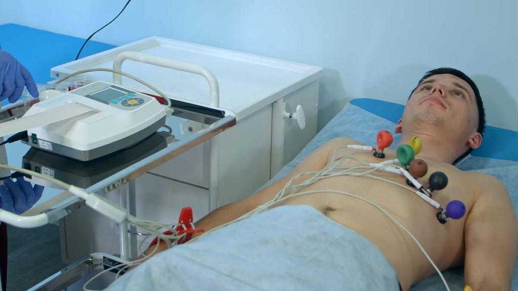 Ecg Test Inside Mobile General Internal Medicine Facility