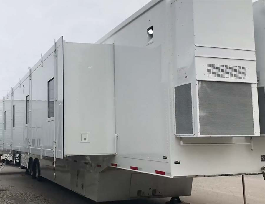 Outside Our Covid  Mobile Icu Bc Double Expandable Facility
