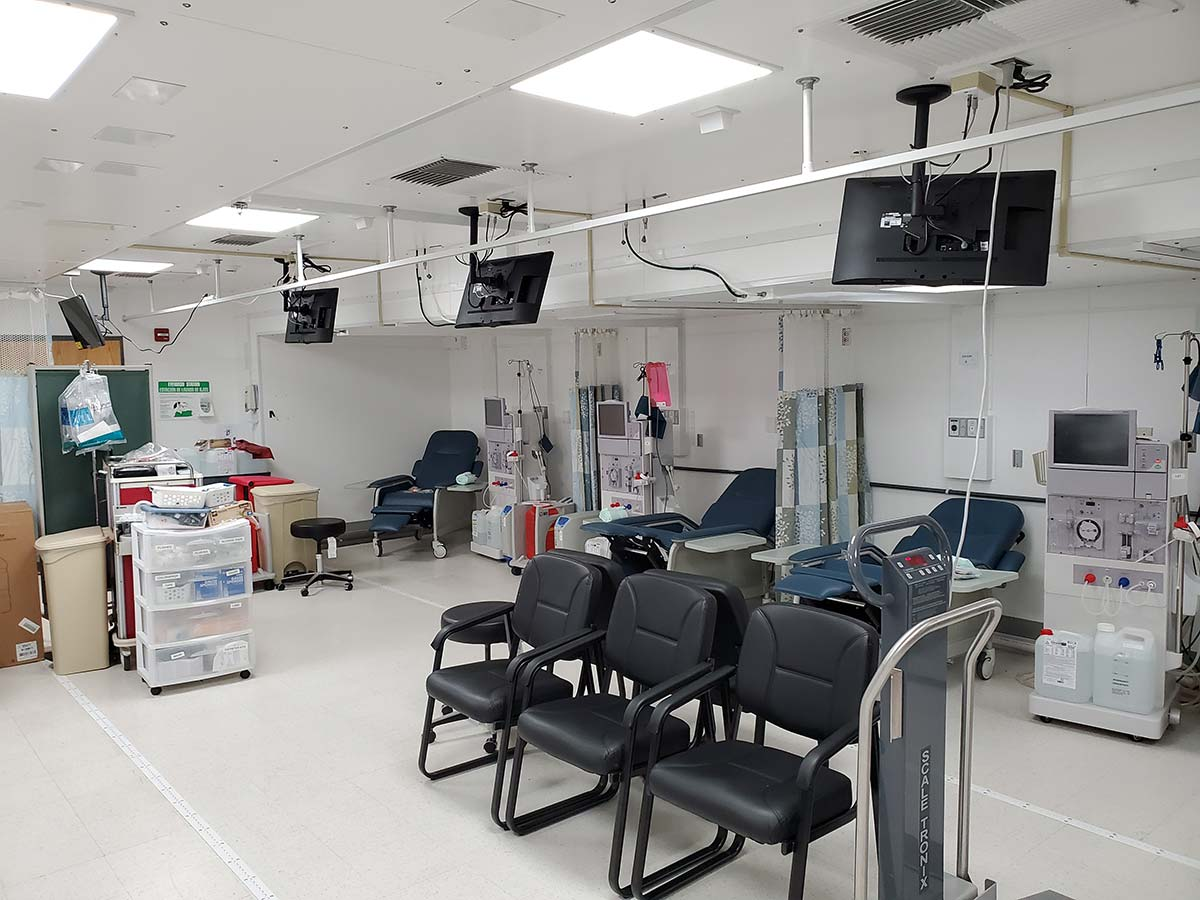 Photo St Croix Mobile Dialysis Facilities Inside Dialysis Stations Waiting Area
