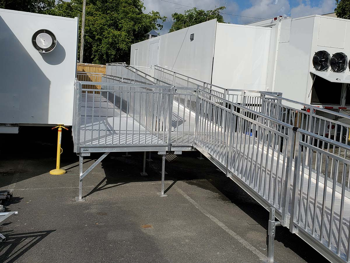 Photo St Croix Mobile Dialysis Facilities Outside With Adjoining Ramp System