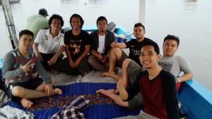 Team pancing Bp Reza dan teman teman sekolah di KM Bintang Fajar