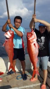 Strike Ruby Snapper di hotspot mancing Alor I Fishing-mancing.com