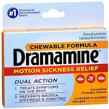 Motion Sickness Relief for prevention and treatment of nausea, vomiting and dizziness associated with motion sickness