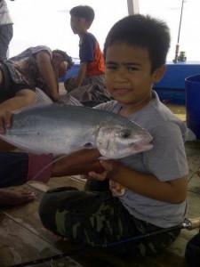 Ikan kue hasil pancingan saya bersama KM Bintang Fajar