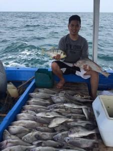 Strike ikan kaci-kaci bersama Km Bintang Fajar