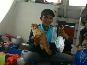 Sukses strike ikan kwe bersama Km Bintang Fajar