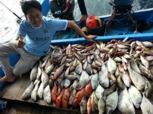 Hasil trip mancing di hotspot Karang Keroya Pulau Kotok