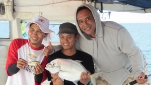 Ikan kuwe terbesar di Trip CFC Mei 2014 di Pulau Pari
