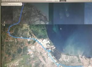 Peta ke Tanjung Pasir versi google earth