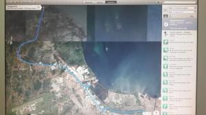 Peta satelit menuju dermaga beton tanjung pasir tangerang I Fishing-Mancing.com