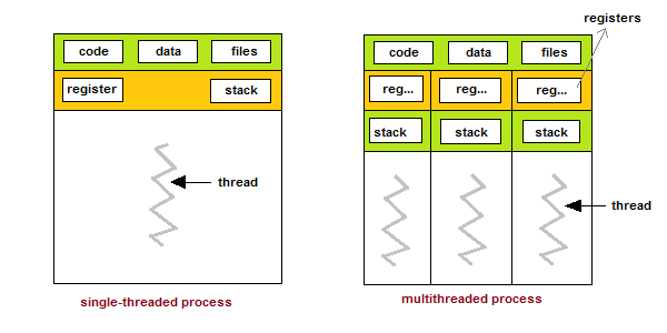 single-and-multithreaded-process