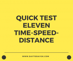 Distance Speed TIme