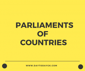 List of Parliaments of different countries