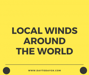 Local Winds Around The World