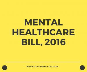 Mental Healthcare Bill, 2016