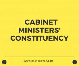 constituency of cabinet ministers