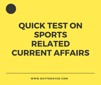 Sports Related Current Affairs