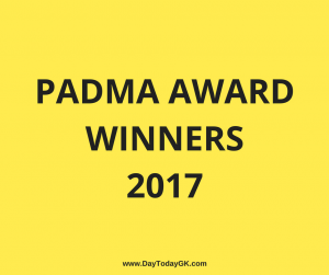 Padma Award Winners 2017