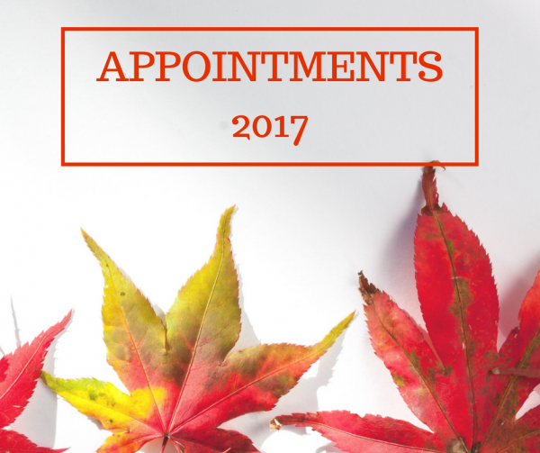 Recent Appointments 2017