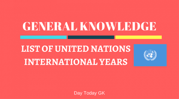 United Nations International Years