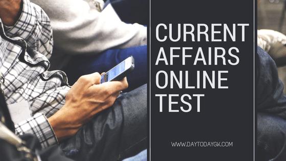 Current Affairs Online Mock Test