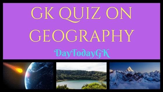 GK Quiz on Geography