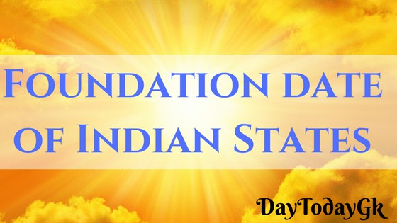Foundation Day of Indian States