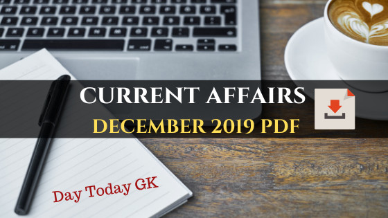 Current Affairs December 2019 PDF