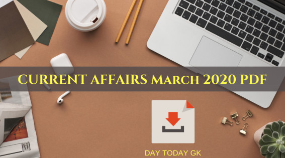 Current Affairs March 2020 pdf