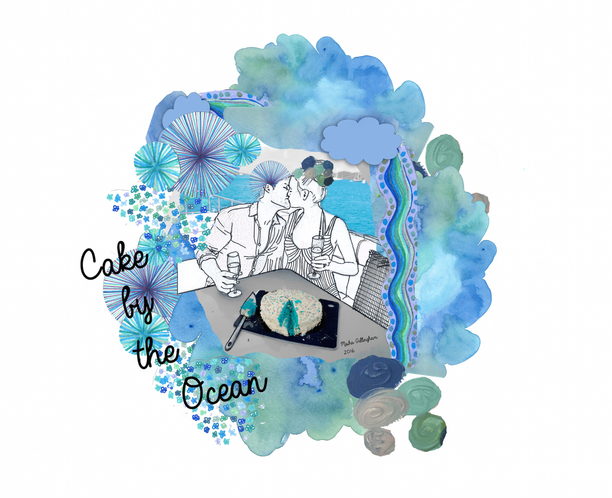 Cake By the Ocean Visual Journal