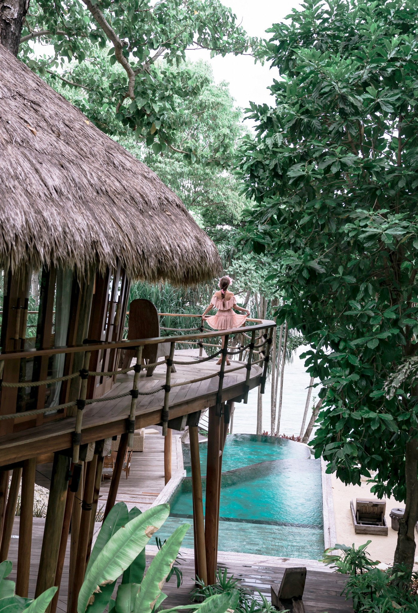luxury tree house at Nihi