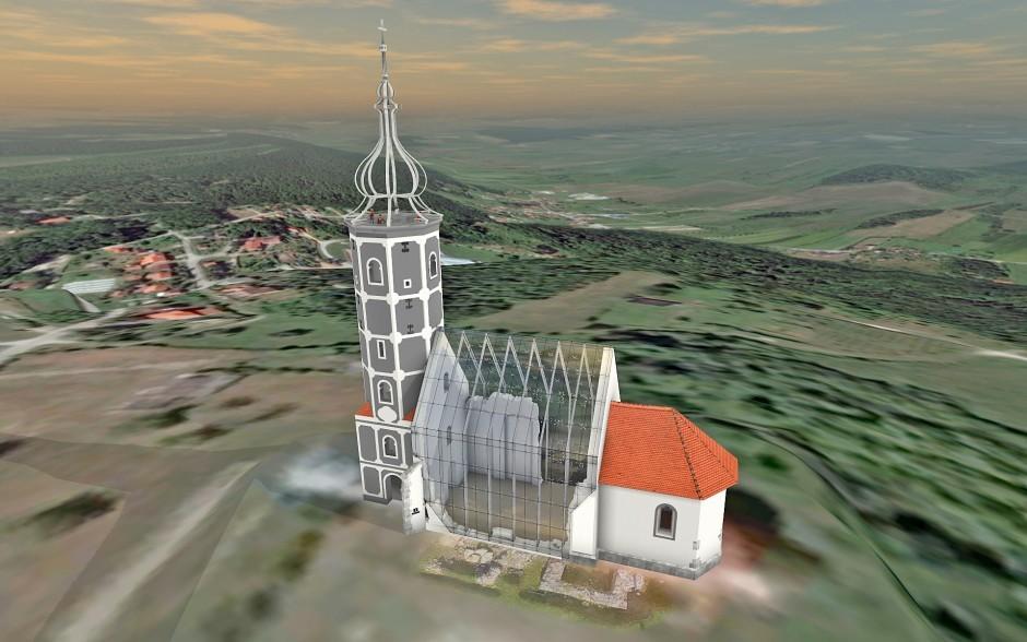 Restauración de la Iglesia de San Martín de Croacia con la ayuda de Archicad y BIMx