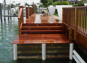 Stepping Stairs to Boat Dock
