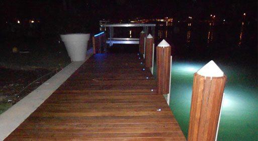 Lighted Boat Dock