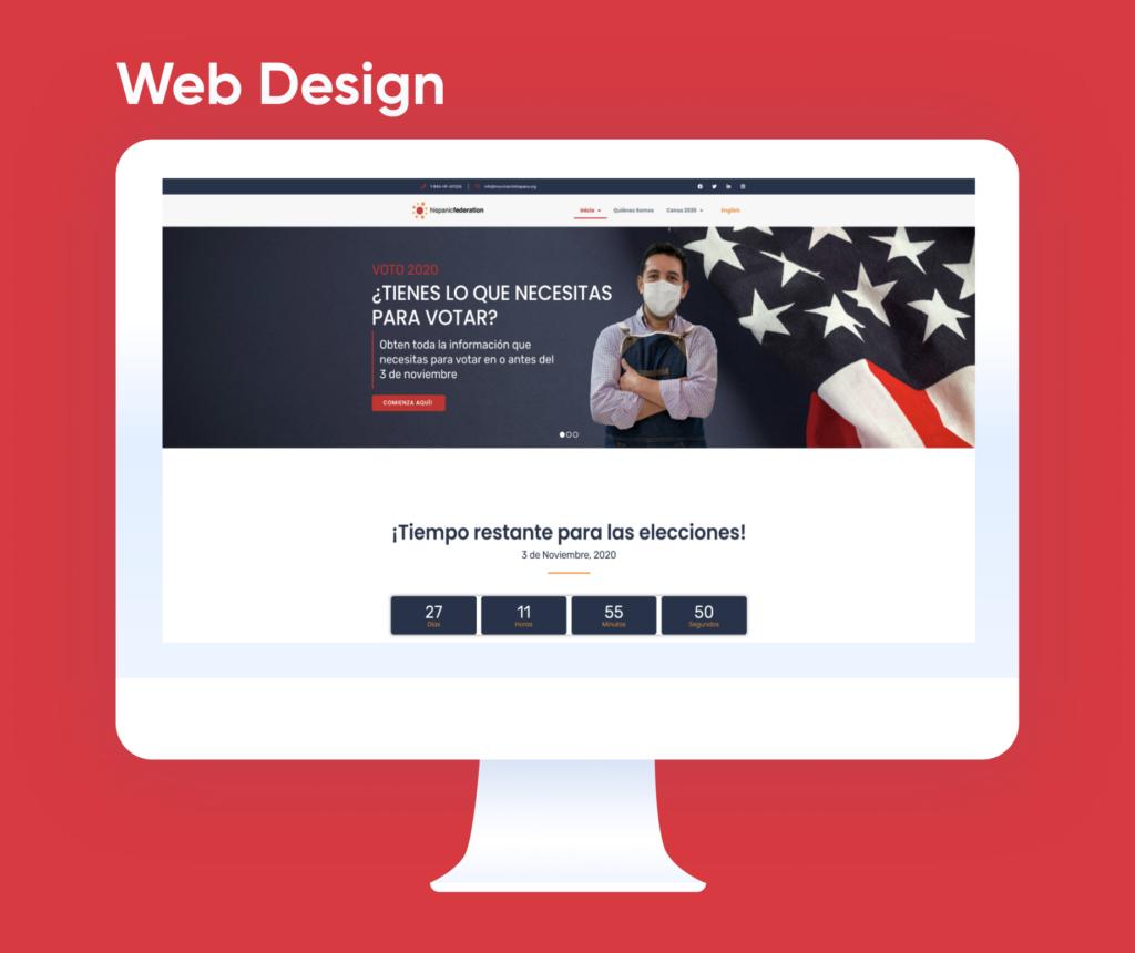 Voto2020.org website redesign