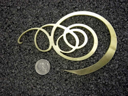 water jet cut brass