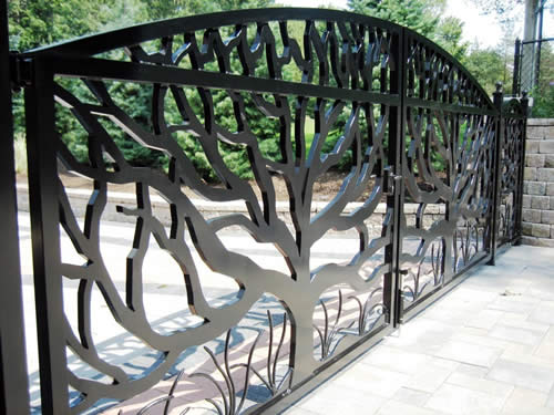 water jet cut gate